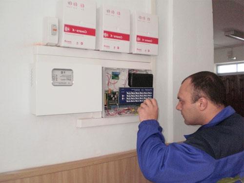 Работа охранно-пожарной сигнализации