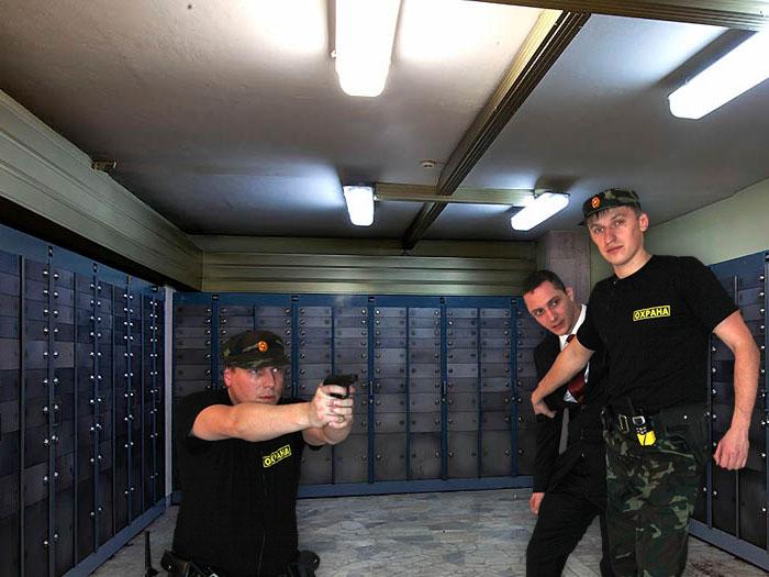 защита от ограбления банка